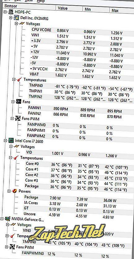Postoji li način da se kaže koliko je moj CPU vruć?
