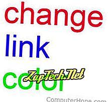 Ändern der Linkfarbe beim Bewegen der Maus über den Link in HTML